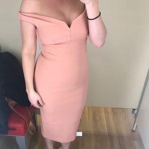 Cinq a Sept brand new pale pink midi dress